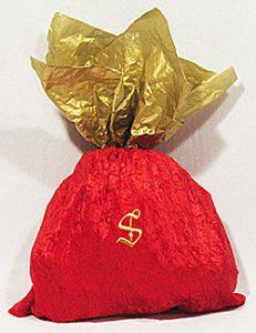 Santa Gold monogrammed bag