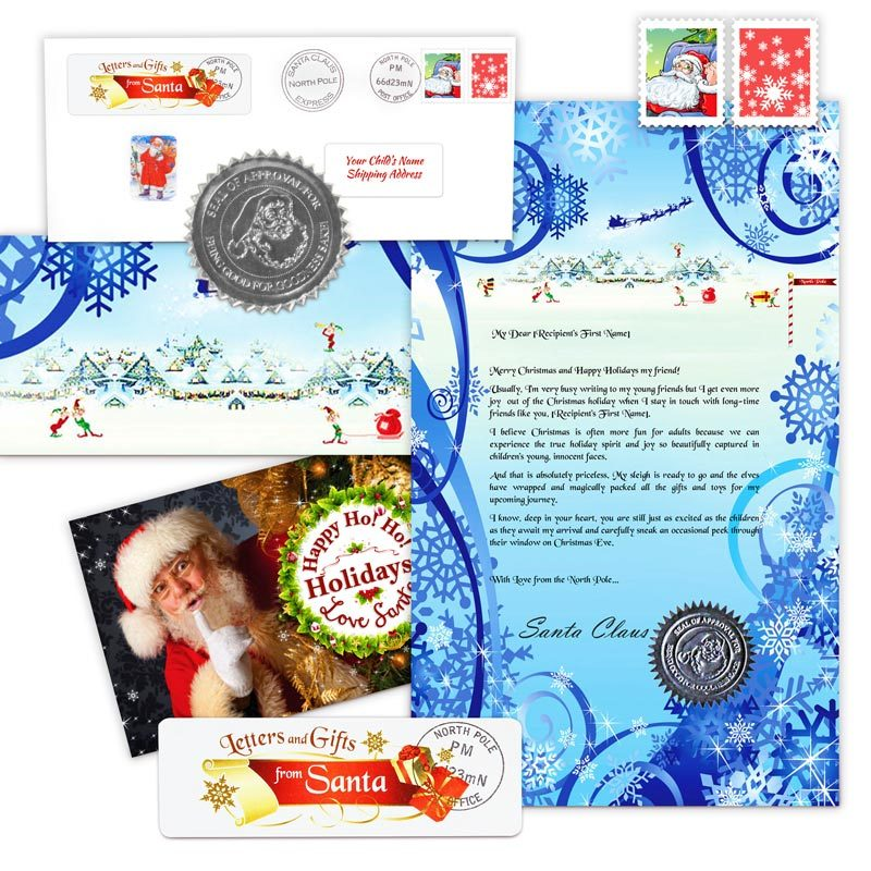classic christmas letter and scroll from santa clausletters and