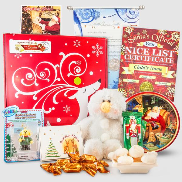 Santa's Fluffy Snowman Christmas Letter Scroll Package