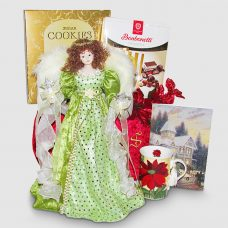 Holiday Angel Tree topper - Santa's Christmas Gift Package