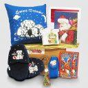 Puppy Slippers Gift Package in Santa's Monogrammed Bag
