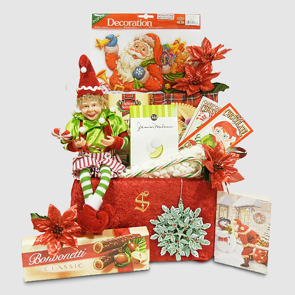 Baker's Elf with Sweet Treats - Christmas Gift from Santa