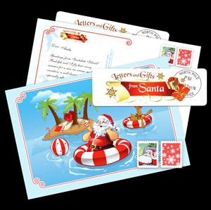 Summer card from Santa