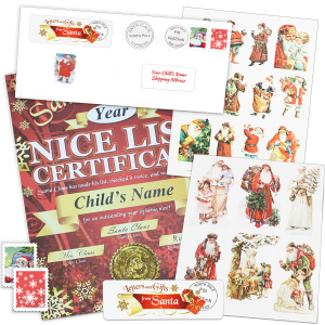 Nice List Certificate with Holiday Stickers