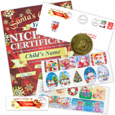 Nice List Certificate with Holiday Stickers - Santa's Good List