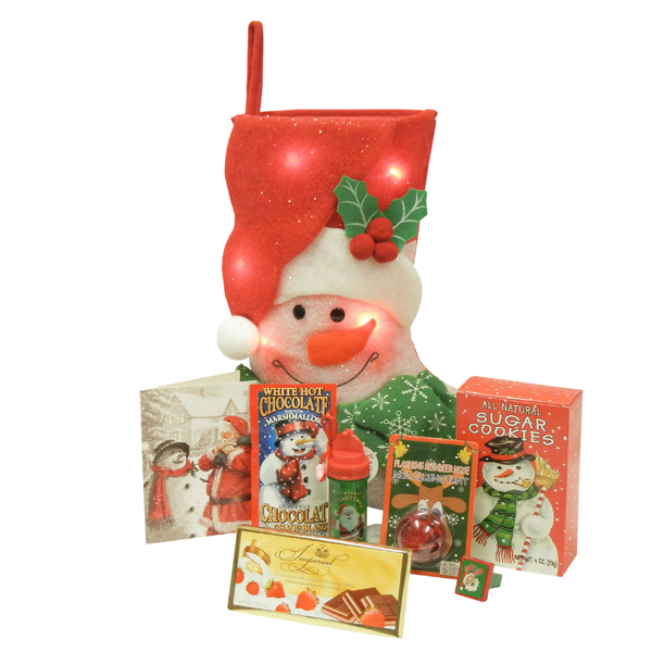 Cheeky Flashing Snowman Stocking - Santa Package