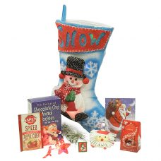 Flashing Snowman Stocking - Package from Santa