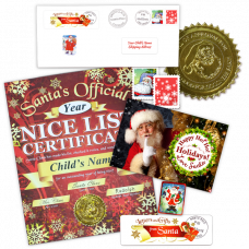 Nice List Certificate From Santa - Mistletoe Gift Package