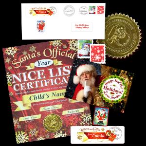 Nice List Certificate From Santa - Mistletoe Gift Package