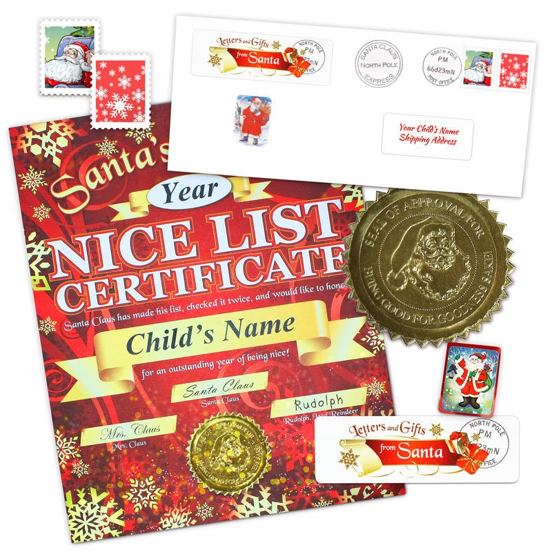 Nice List Certificate From Santa - Snowflake Gift Package