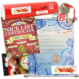 Mrs. Santa letter scroll package