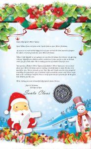 baby`s 1st Christmas Santa letter