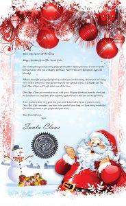 Birthday Santa letter