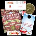 Nice List Certificate with Door Hanger From Santa