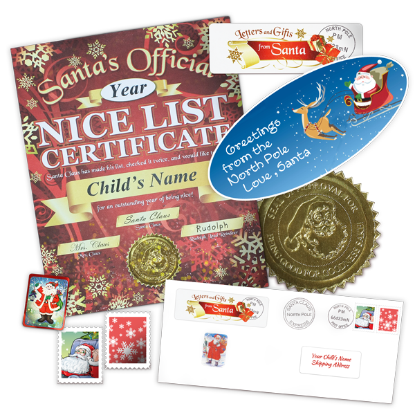 Nice List Certificate From Santa with Greetings Sticker
