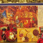 Santa in His Study Puzzle and Sweets - Gift from Santa