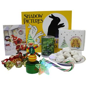 Shadow Pictures Book and Reindeer Kisses cookies