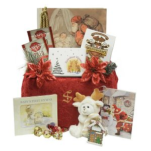 Santa at Baby's Crib - First Christmas Gift Package