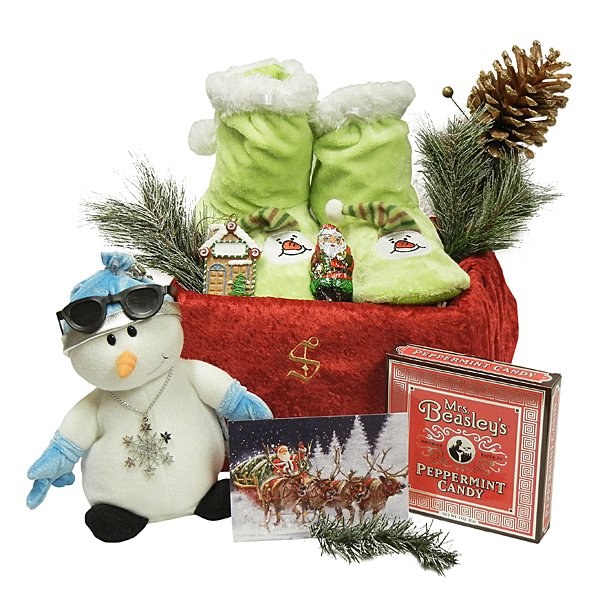 Dancing Snowman Of The North Pole - Santa's Gift Bag