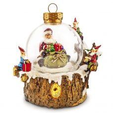 Santa and elves water globe
