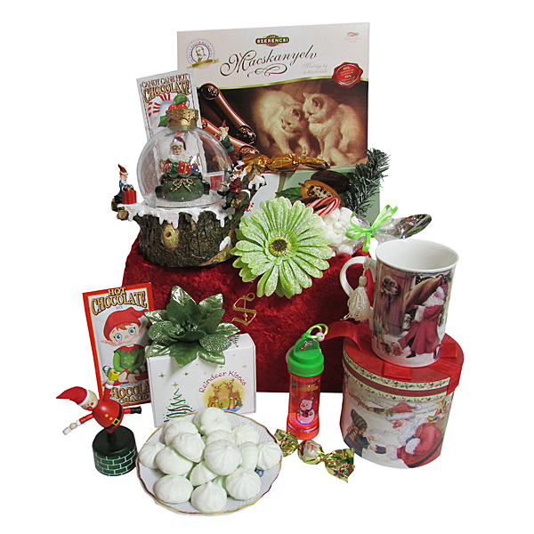 Santa & the Elves Musical Water Globe Gift Package