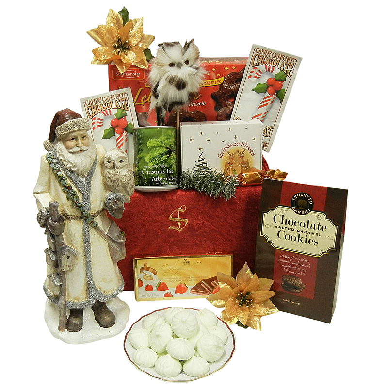 Classic Santa Figurine - Christmas Adult Gift Package