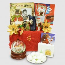 Santa is Coming to Town Snow Globe Gift Package