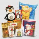 Dancing Penguin and Glowing Santa Bear Gift Package