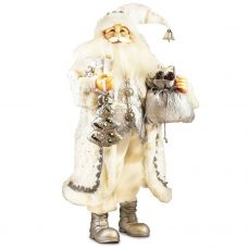Silvery White Santa and His Goody Bag