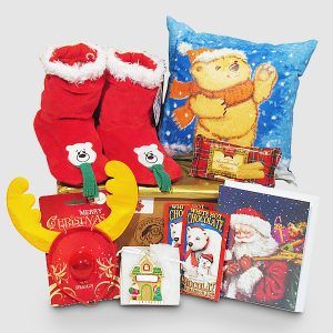 Christmas Teddy Glow Pillow - Santa's Gift Package