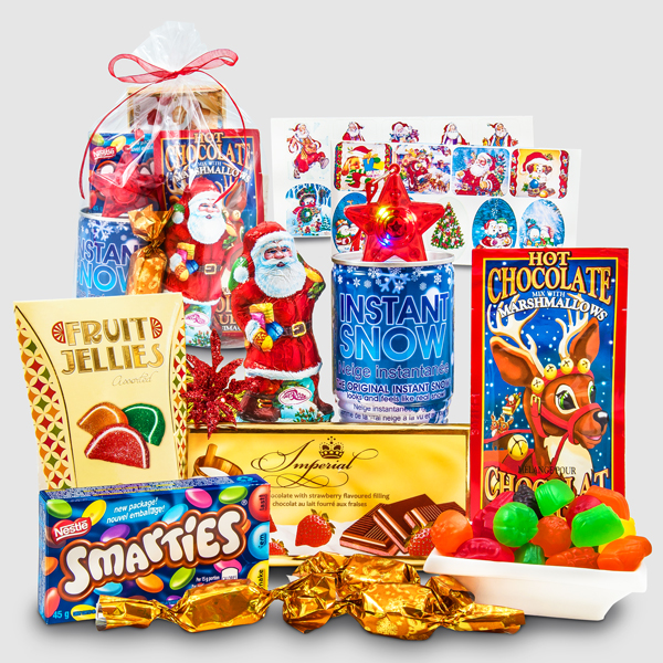 Chocolates and Fun Toys Gift Package from Santa