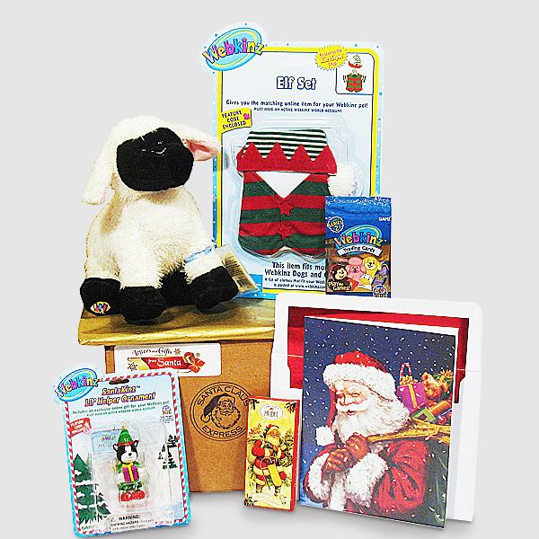 Bashful Elfie Webkinz Package - Santa Gift Package