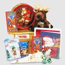 Reindeer Webkinz and Butter Cookies - Santa Gift Package