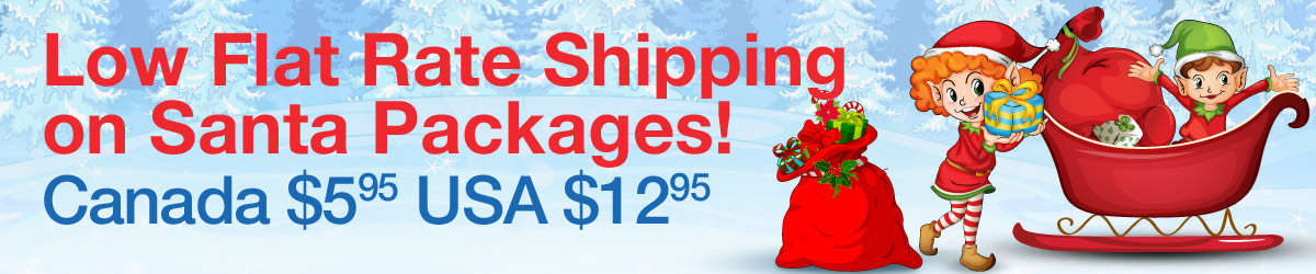 Low Flat Rate Shipping on Santa Packages!