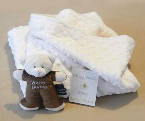 Ivory blanket with bear