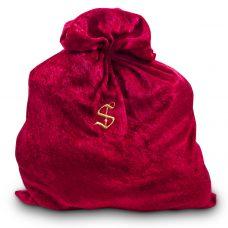 Santa's gold monogrammed bag
