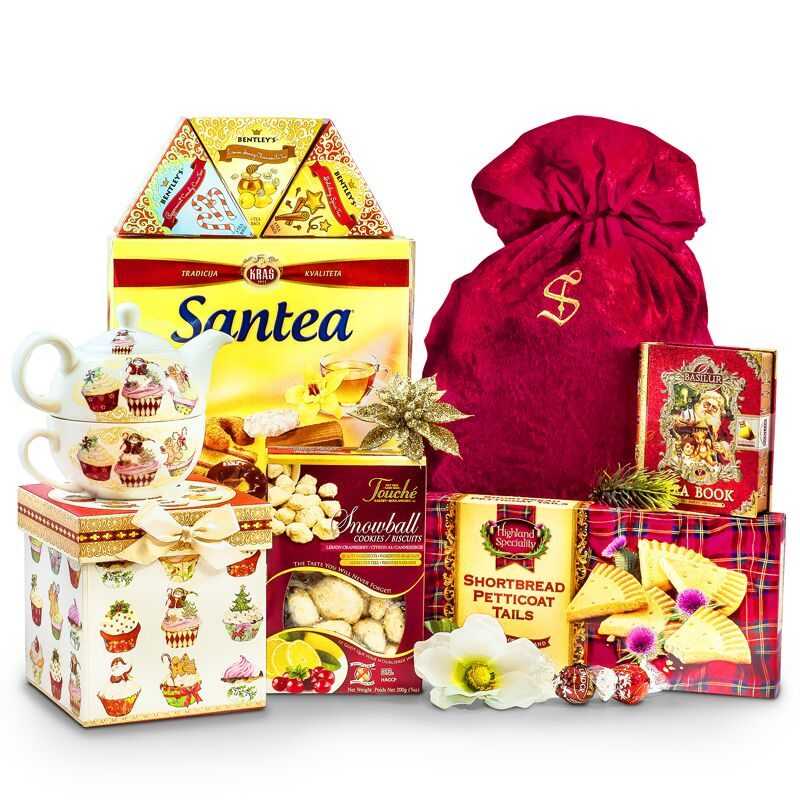 Christmas Cupcakes Tea for One Set