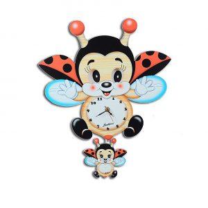 Flying Ladybug Moving Eyes Clock And Santa's Chocolate Gifts