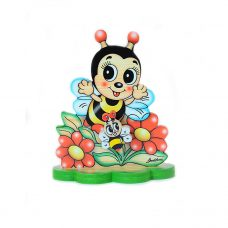 Bee Between Flowers Table Music Box