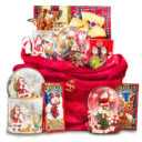 Santa is Coming to Town Musical Snow Globe