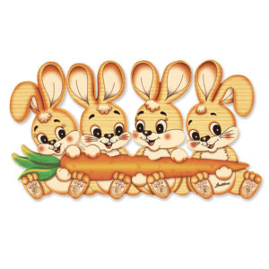 Four Bunny Clothes Hanger