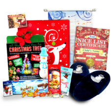 Santa's Glowing Slippers Christmas Letter Scroll Package